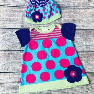 Hanna Anderson sz 60 (3-6m) bright sweater dress +